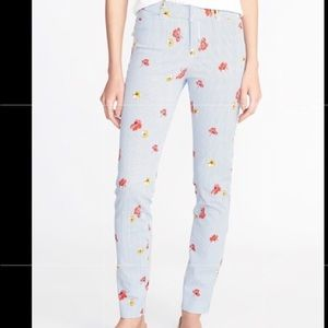 Old Navy Mid Rise Pixie Ankle Pant Stripe Floral